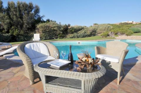 Zwembad villa Portobello op Sardinië