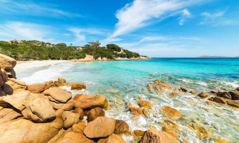 Spiaggia Capriccioli, Costa Smeralda, Sardinië