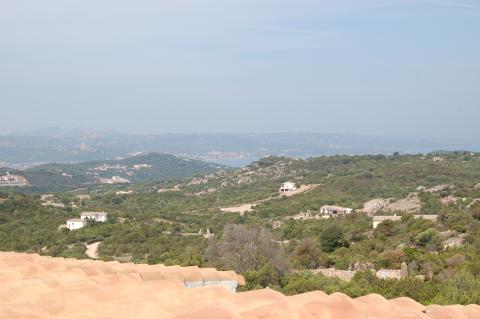 Uitzicht vanaf Villa Monti di Mola, Sardinië