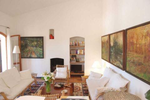 Gezellige huiskamer van Casa Pineddu