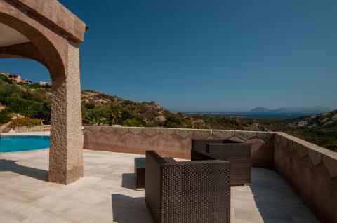 Terras met uitzicht op zee Villa Collina