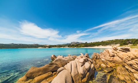 Spiaggia La Celvia, Costa Smeralda, Sardinië