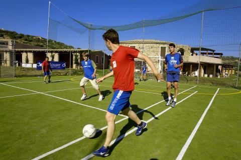 Vakantiepark met voetbalveld