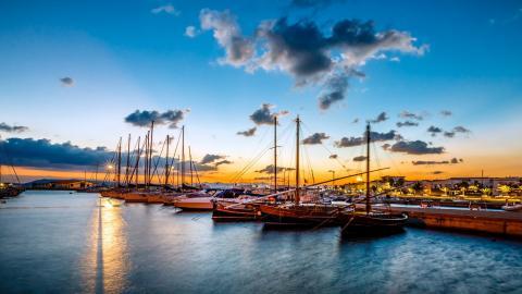 Haven van Sant 'Antioco, Sardinië.