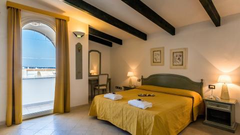 Mooie slaapkamer van Hotel Seta.